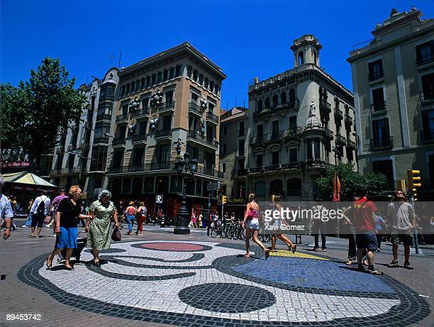 Barcelona Cataluna The Ramblas People walking