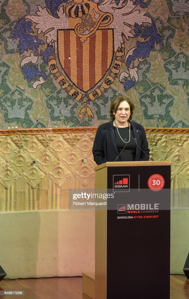 Barcelona city Mayor Ada Colau attends the official dinner of the Mobile World Congress 2017 at Palau de la Musica on February 26, 2017 in Barcelona, Spain.