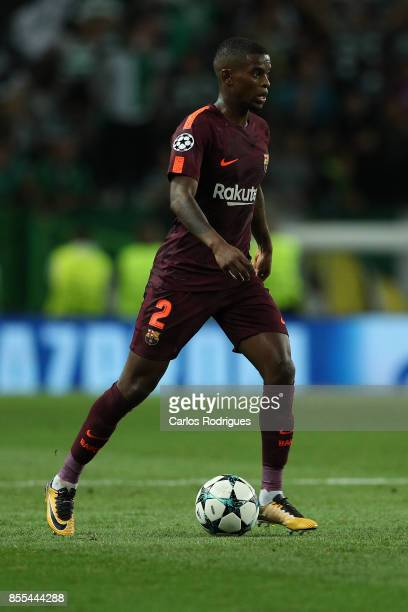 Barcelona defender Nelson Semedo from Portugal during UEFA Champions League round two match between Sporting CP and FC Barcelona at Estadio Jose...