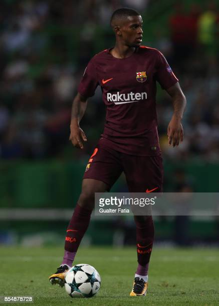 Barcelona defender Nelson Semedo from Portugal in action during the UEFA Champions League match between Sporting Clube de Portugal and FC Barcelona...