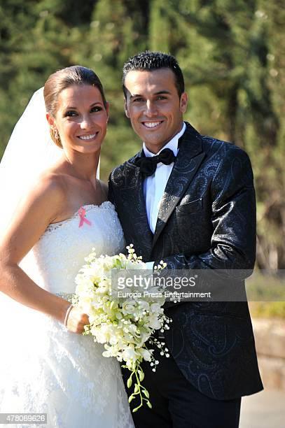 Barcelona fooball player Pedro Rodriguez 'Pedrito' and Carolina Martin get married in La Cabrera del Mar on June 20 2015 in Barcelona Spain