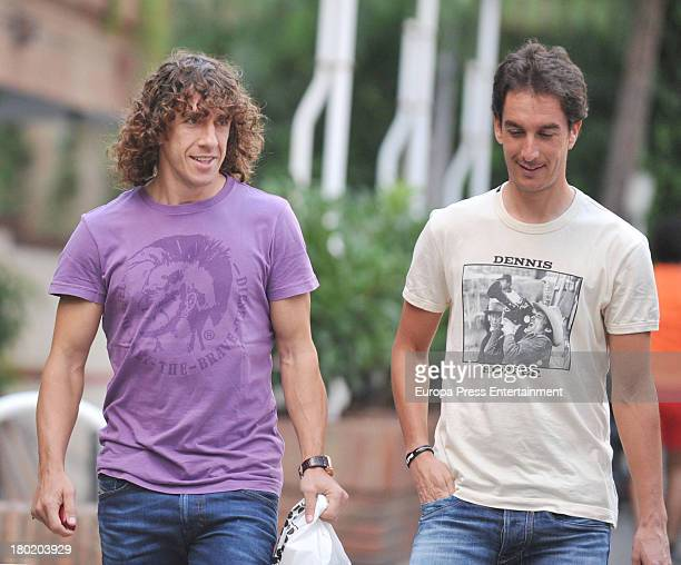 Barcelona football player Carles Puyol is sighted on September 9 2013 in Barcelona Spain