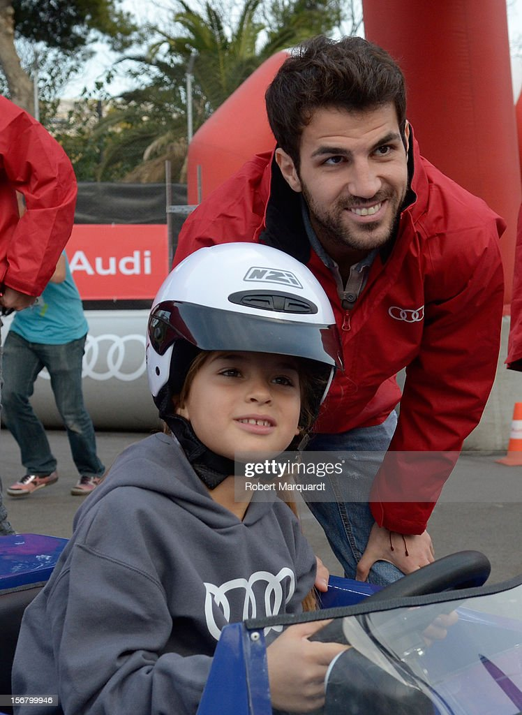 Barcelona football player Cesc Fabregas attends an Audi presentation during which Barcelona FC players received new Audi cars for the 2012-2013 season at Camp Nou on November 21, 2012 in Barcelona, Spain.