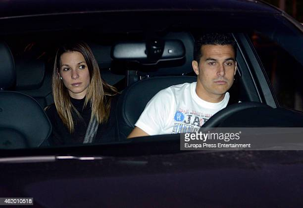 Barcelona football player Pedrito Carolina Martin and their son Bryan Rodriguez attend the first birthday party of Milan Pique Mebarak Shakira and...
