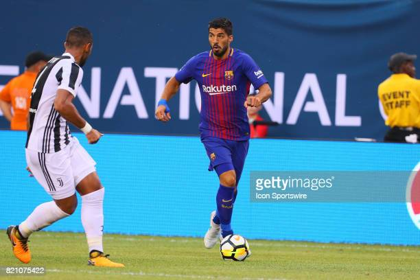 Barcelona forward Luis Suarez during the second half of the International Champions Cup soccer game between Barcelona and Juventus on July 22 at Met...