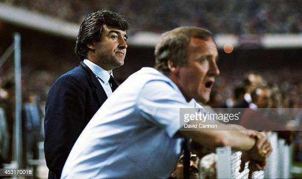 Barcelona mananger Terry Venables and his assistant Allan Harris look on as Barcelona fail to score in the Penalty shoot out in the European Cup...