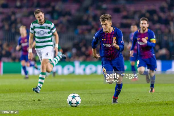 FC Barcelona midfielder Denis Suarez during the match between FC Barcelona Sporting CP for the group stage round 6 of the Champions League held at...