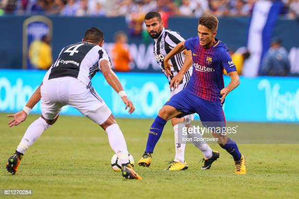 Barcelona midfielder Denis Suarez during the second half of the International Champions Cup soccer game between Barcelona and Juventus on July 22 at...