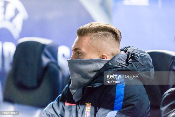 FC Barcelona midfielder Gerard Deulofeu during the match between FC Barcelona Sporting CP for the group stage round 6 of the Champions League held at...