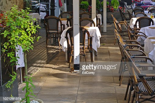 Barcelona outdoor cafe : Foto stock