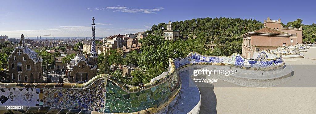 Barcelone parc g ell de gaudi embl matique de jardins for Barcelona jardin gaudi