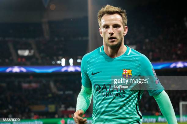 FC Barcelona player Ivan Rakitic during the UEFA Champions League round of 16 first leg football match between Paris SaintGermain and FC Barcelona on...