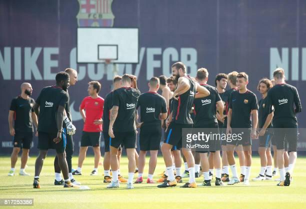 FC Barcelona players during the training on 17 july 2017 Photo Joan Valls/Urbanandsport/Nurphoto