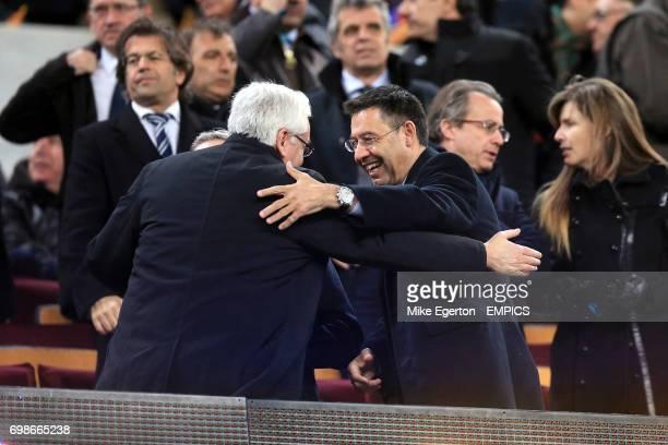 Barcelona President Josep Maria Bartomeu in the stands