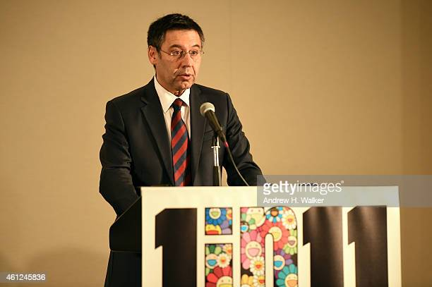 Barcelona President Josep Maria Bartomeu supports the launch of '1 in 11' a partnership between FC Barcelona Foundation UNICEF and Reach out to Asia...