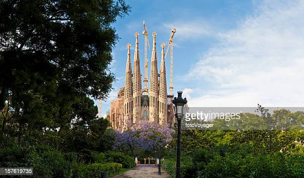 Barcelona Sagrada Família Gaudí church L'Eixample summer panorama Catalonia Spain