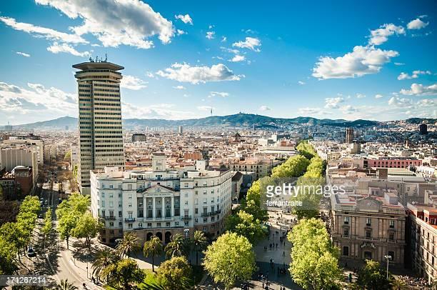 Skyline Ramblas di Barcellona