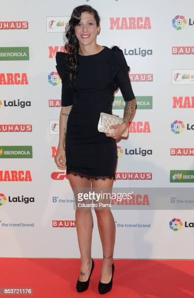 C Barcelona Soccer player Jennifer Hermoso attends the 'Women Soccer Awards 2017' photocall at Palace hotel on September 25 2017 in Madrid Spain