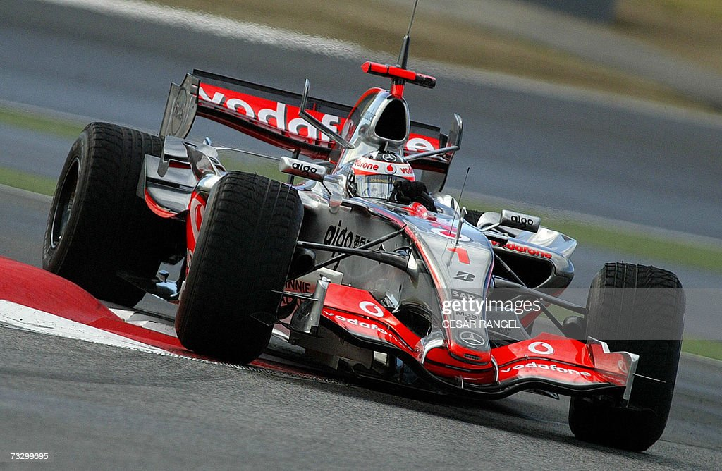 McLaren Mercedes Formula One driver Fernando Alonso takes a curve during a test session at the Catalonia racetrack in Montmelo near Barcelona 12...