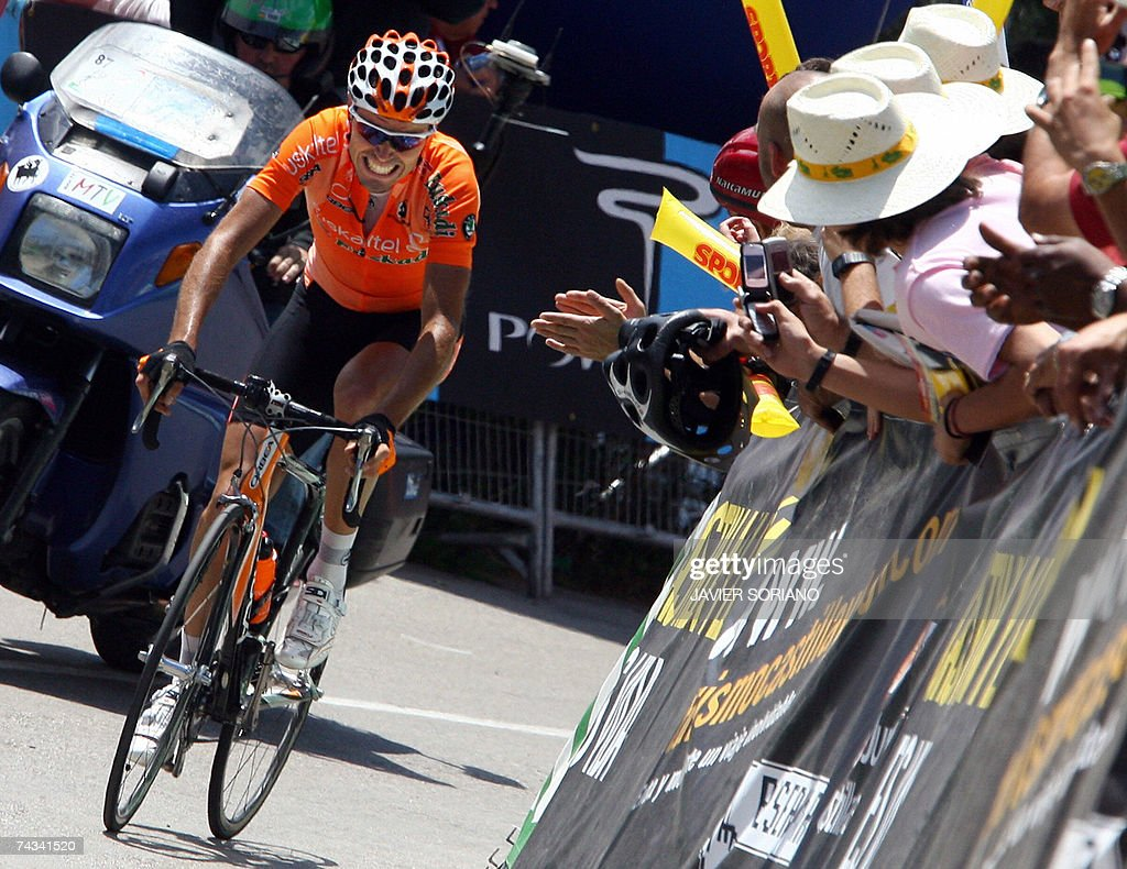 Spain's Samuel Sanchez of Euskaltel Euskadi team wins the seventh and final stage of the Tour of Catalonia between Lloret de Mar and Barcelona 27 May...