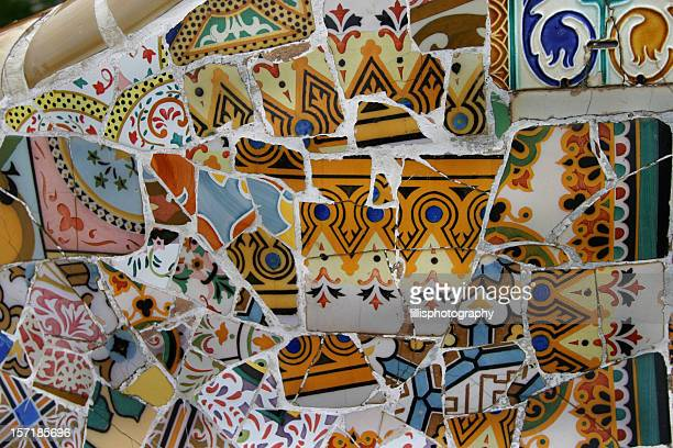 Barcelona Spain Tile Parc Guell by Antonio Gaudi