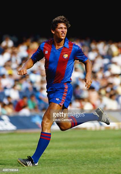 Barcelona striker Gary Lineker in action during a match in 1986 Lineker played for the club between 1986 and 1989