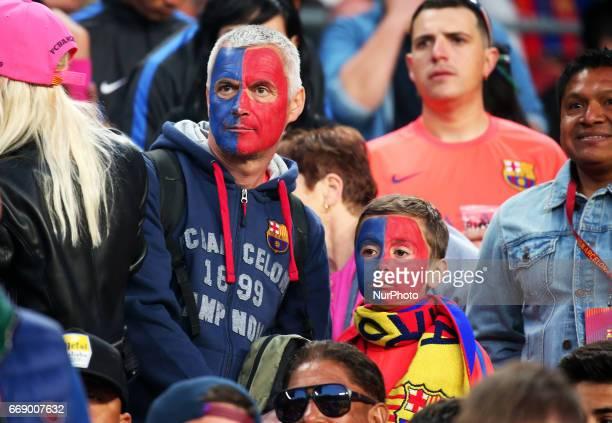 FC Barcelona supporters during La Liga match between FC Barcelona v Real Sociedad in Barcelona on April 15 2017 Photo Joan...