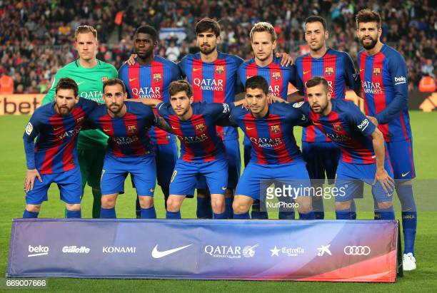 FC Barcelona team during La Liga match between FC Barcelona v Real Sociedad in Barcelona on April 15 2017 Photo Joan Valls/Urbanandsport/Nurphoto