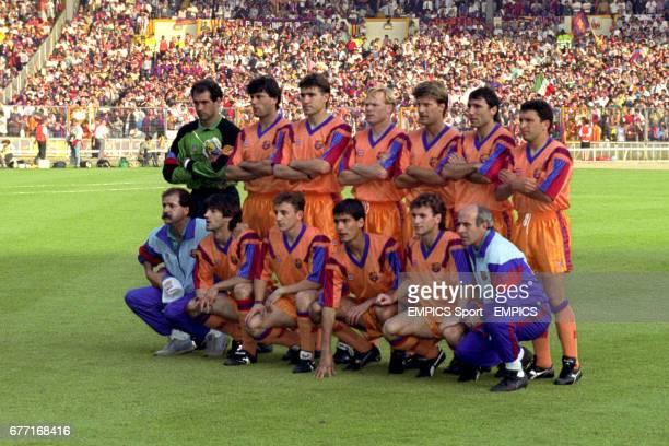 Barcelona Team Group Andoni Zubizarreta Nando Julio Salinas Ronald Koeman Michael Laudrup Hristo Stoichkov Eusebio Sacristan unknown Jose Mari Bakero...