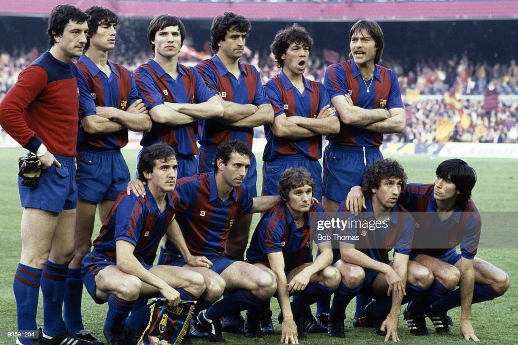 Barcelona winners of the European Cup Winners Cup Final against Standard Liege held at the Nou Camp Stadium Barcelona on 12th May 1982 Barcelona won...