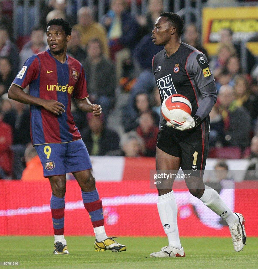 Barcelona s Cameroonian Samuel Eto o an