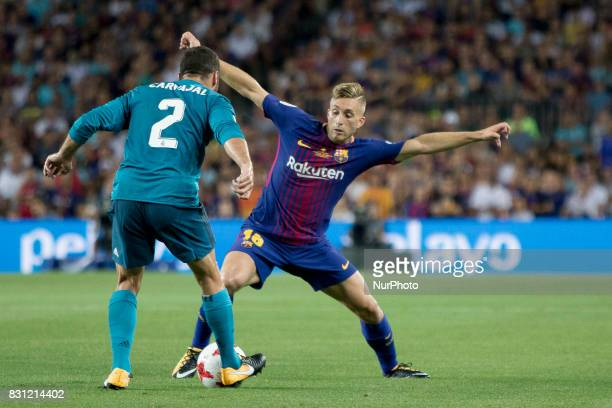 Barcelona's Deulofeu during the Supercopa match between the FC Barcelona and the Real Madrid in the Camp Nou Stadium in Barcelona Spain on August 13...