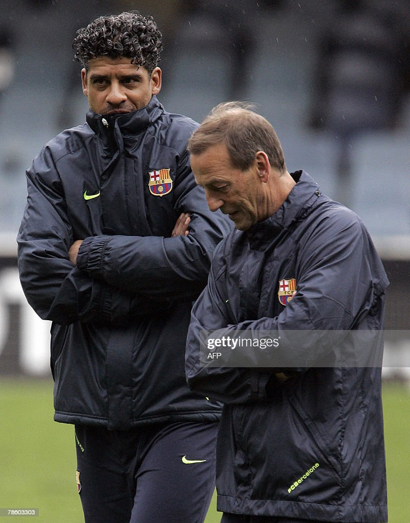Barcelona s Dutch coaches Frank Rijkaar