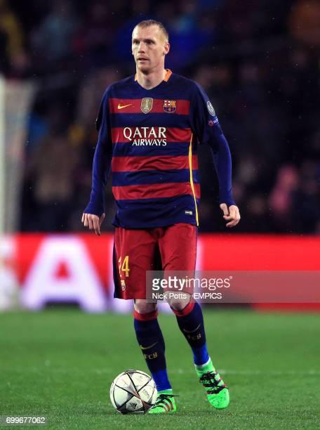 Barcelona's Jeremy Mathieu