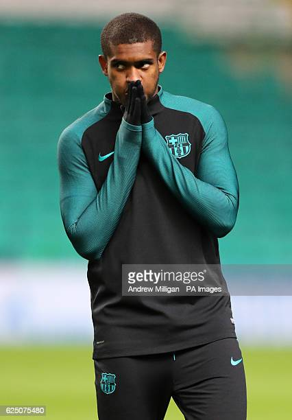 Barcelona's Marlon Santos during a training session ahead of the UEFA Champions League group stage match at Celtic Park Glasgow