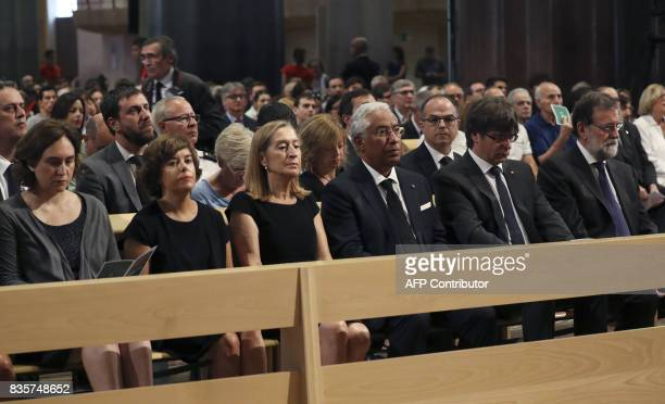 Barcelona's Mayor Ada Colau Spanish vicePresident of the Government and Minister of the Presidency and of the Regional Administrations Soraya Saenz...