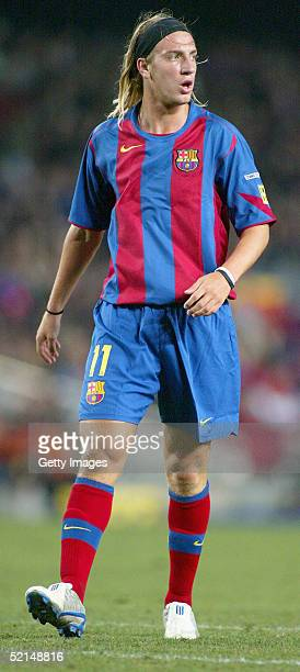 Barcelona's new Argentinian player Maxi Lopez in his first match for FC Barcelona in the La Liga match between FC Barcelona and Atletico de Madrid at...