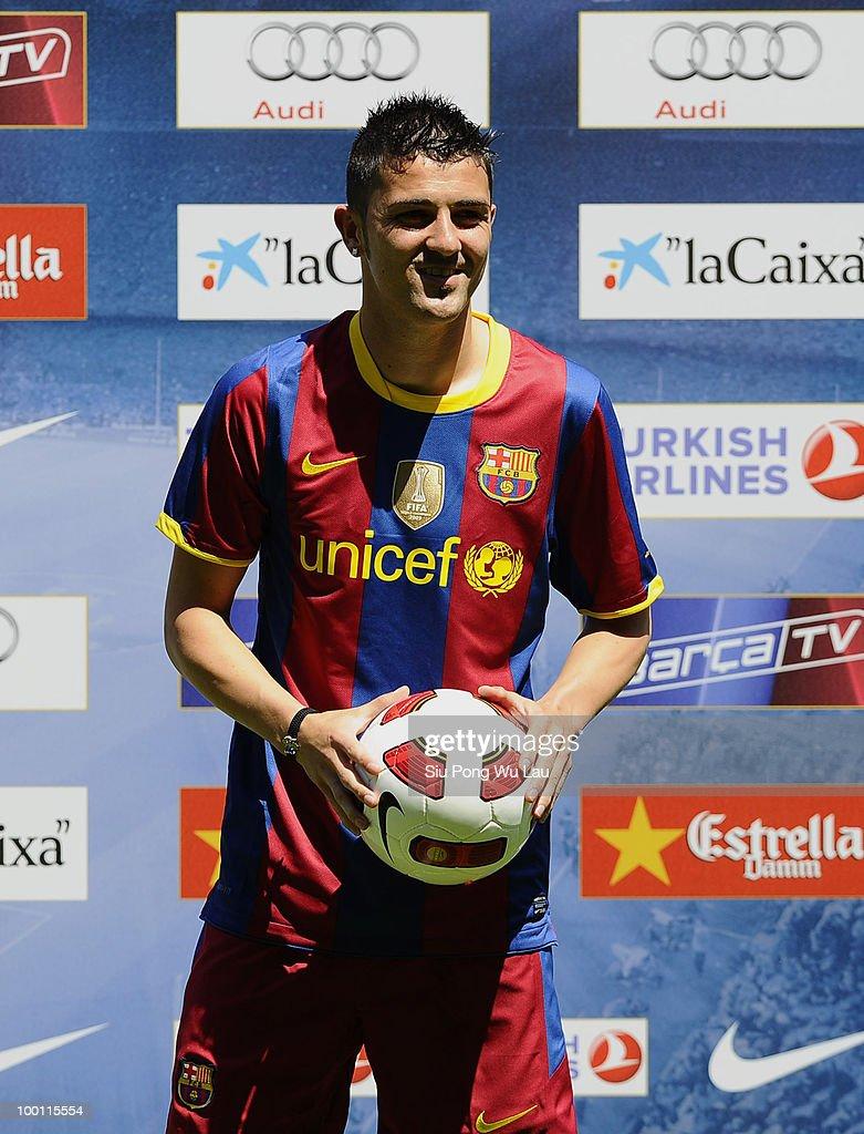 David Villa Presentation at FC Barcelona s and