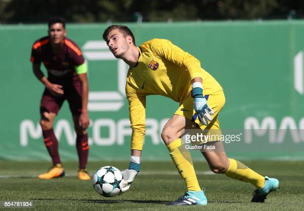 Barcelona's Pena in action during the UEFA Youth League match between Sporting CP and FC Barcelona at CGD Stadium Aurelio Pereira on September 27...