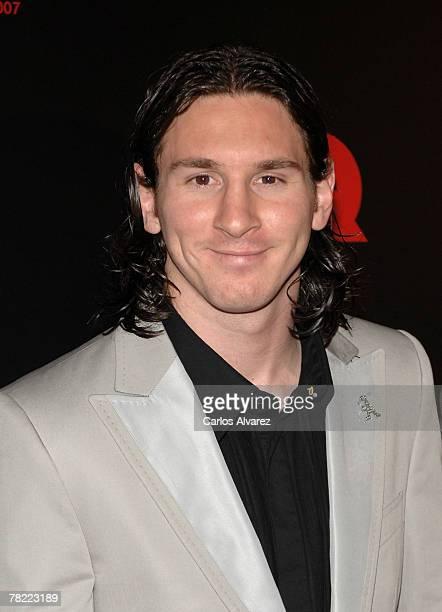 Barcelonas player Leo Messi attends 7th GQ Magazine Man Awards on December 03 2007 at the Palace Hotel in Madrid Spain