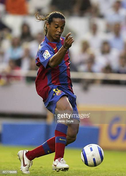 Barcelona's Ronaldinho in action during a La Liga match between Valencia and Barcelona at the Mestalla on May 8 2005 in Valencia Spain