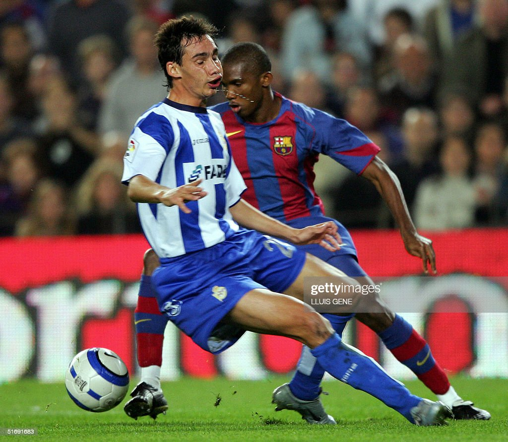 FC Barcelona s Samuel Eto o of Cameroon
