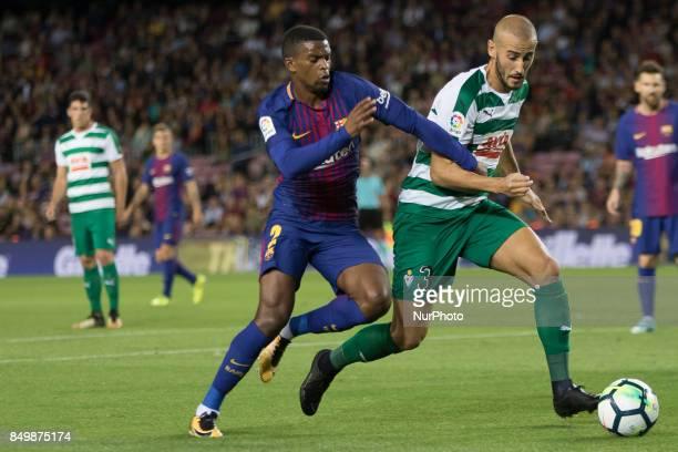 Barcelona's Semedo during the spanish league match between FC Barcelona and Eibar at Camp Nou Stadium in Barcelona Spain on September 19 2017