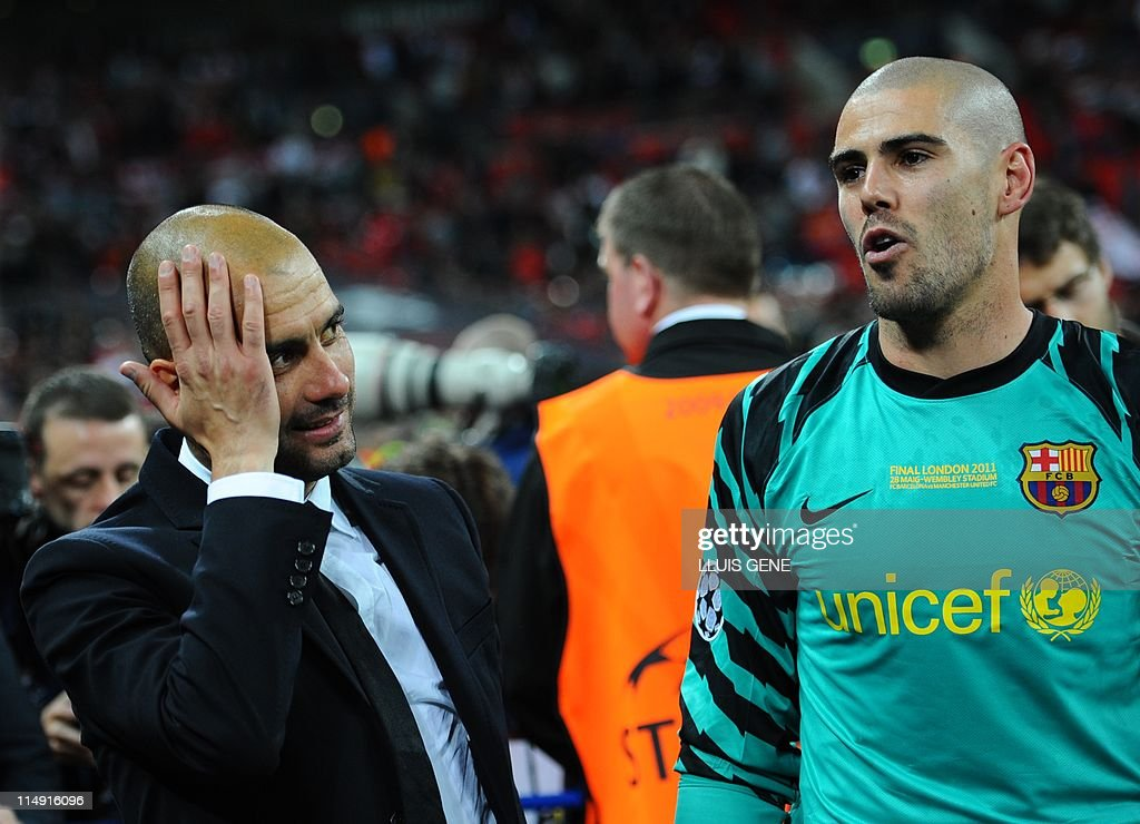 Barcelona's Spanish coach Josep Guardiol : News Photo