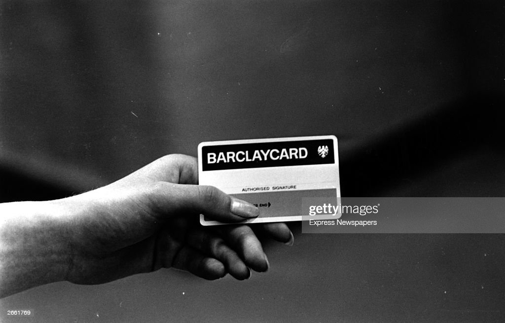 A Barclaycard credit card this photogtraph taken shortly after its introduction