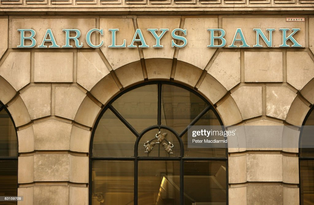 A Barclay's Bank sign is displayed above a branch on October 7, 2008 in London. Financial markets continue to fluctuate as the banking crisis continues.
