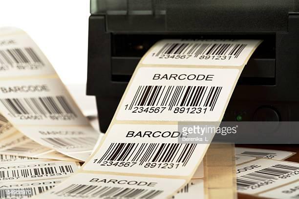 Etichetta con codice a barre della stampante