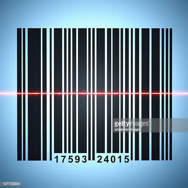 Barcode with a Red Laser