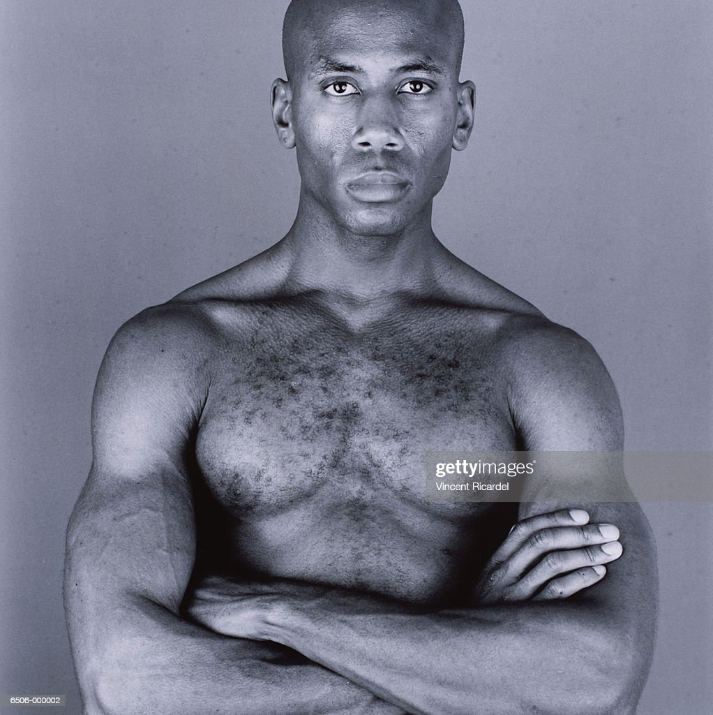 Bare Chested Man : Stock Photo