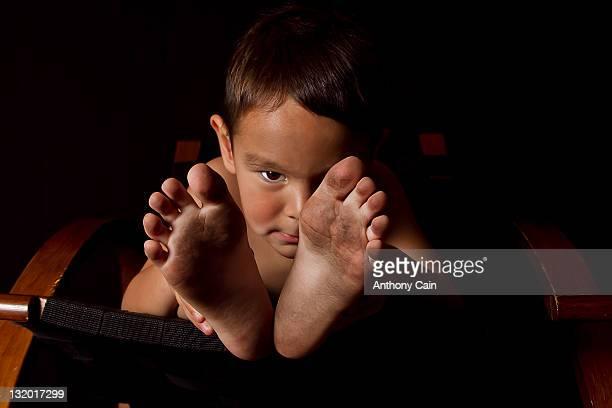 Bare feet boy